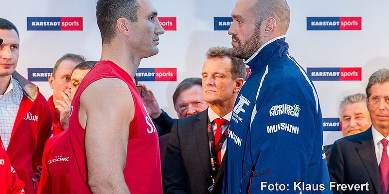 Wladimir Klitschko vs Tyson Fury - face off