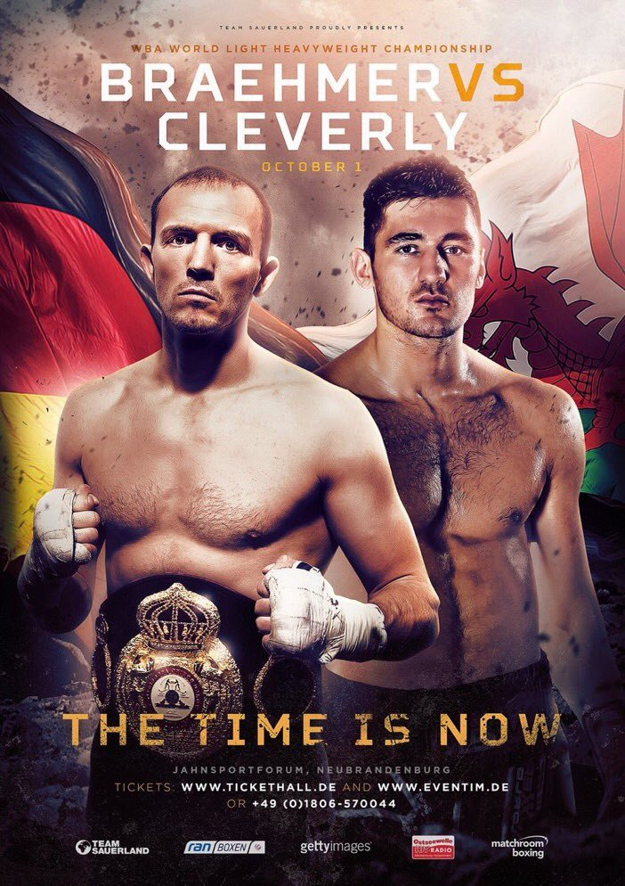 Juergen Braehmer vs Nathan Cleverly - poster