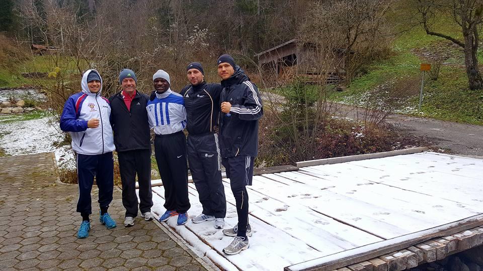 Vincent Feigenbutz, Karsten Röwer, Moise Lohombo, Enrico Kölling und Alexander Peil  – Foto: Rainer Gottwald