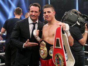 Kalle Sauerland mit Weltmeister Tyron Zeuge