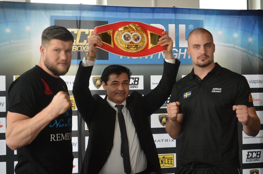 Alexander Dimitrenko, Erol Ceylan und Adrian Granat - Foto: EC Boxing