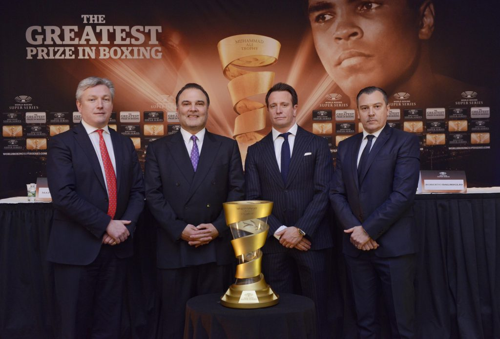 Matthew Hooper, Richard Schaefer, Kalle Sauerland and Roberto Dalmiglio - Foto: WORLD BOXING SUPER SERIES / SIMON LEWIS