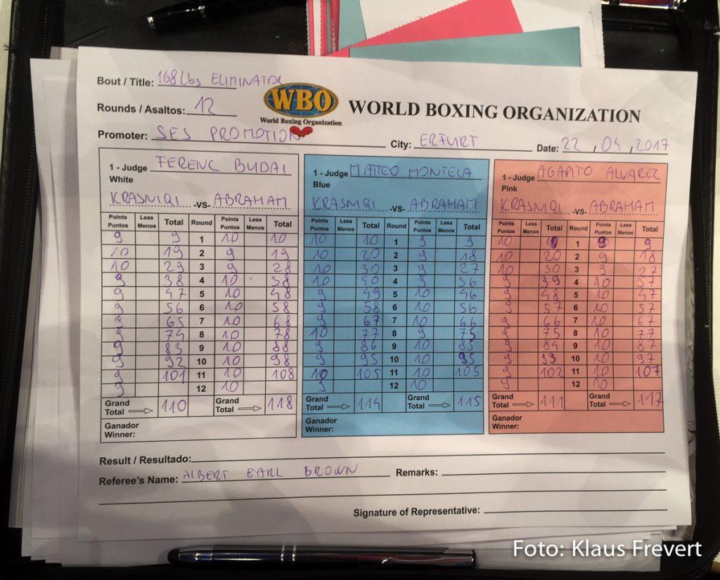 Robin Krasniqi vs Arthur Abraham - Die Master-Scorecard