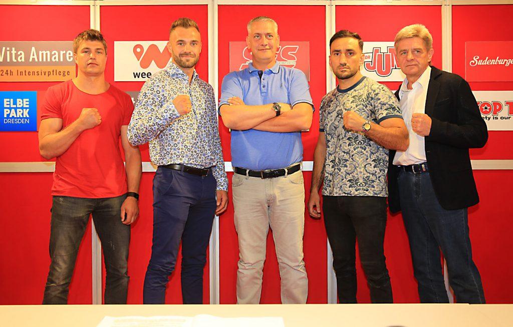 Dirk Dzemski, Dominic Bösel, Ulf Steinforth, Karo Murat und Georg Bramowski - Foto: Team SES / P. Gercke