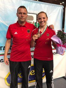 Trainer Andy Schiemann und Sophie Alisch - Foto: ©️- Boxclub TRAKTOR Schwerin