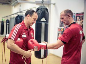 Michael Timm mit Jürgen Brähmer - Foto: World Boxing Super Series